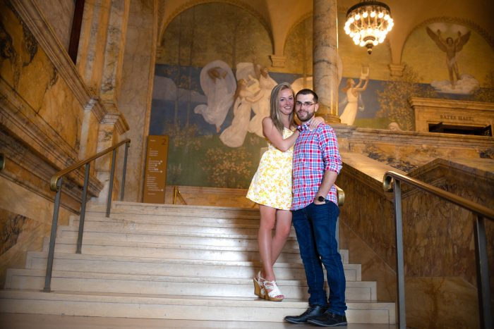 Marriage Proposal Ideas in Boston Public Library