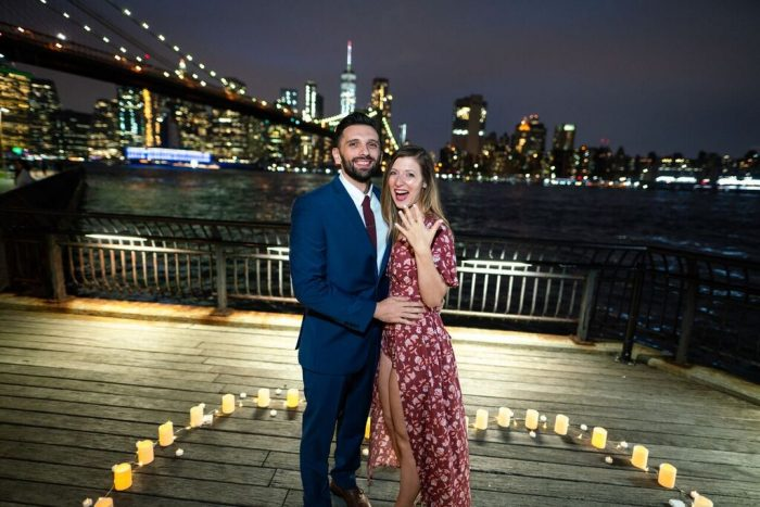 Victoria and Anthony's Engagement in Dumbo, Brooklyn