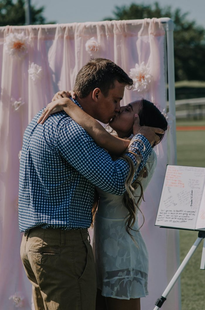 Wedding Proposal Ideas in The highschool football field where we both went to highschool at in Perkins, Oklahoma