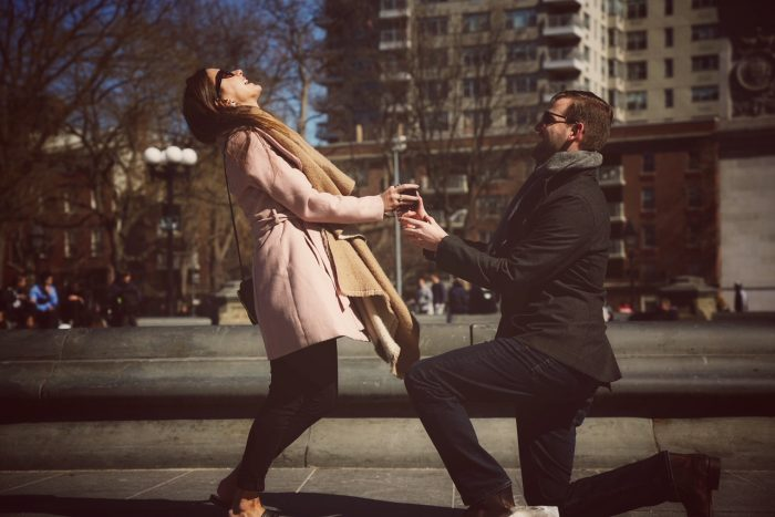 Wedding Proposal Ideas in Washington Square Park, New York City