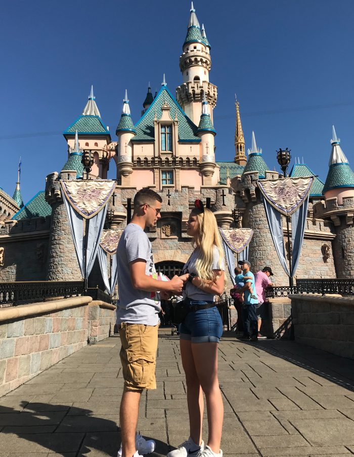 Wedding Proposal Ideas in Disneyland California (Cinderella's Castle)