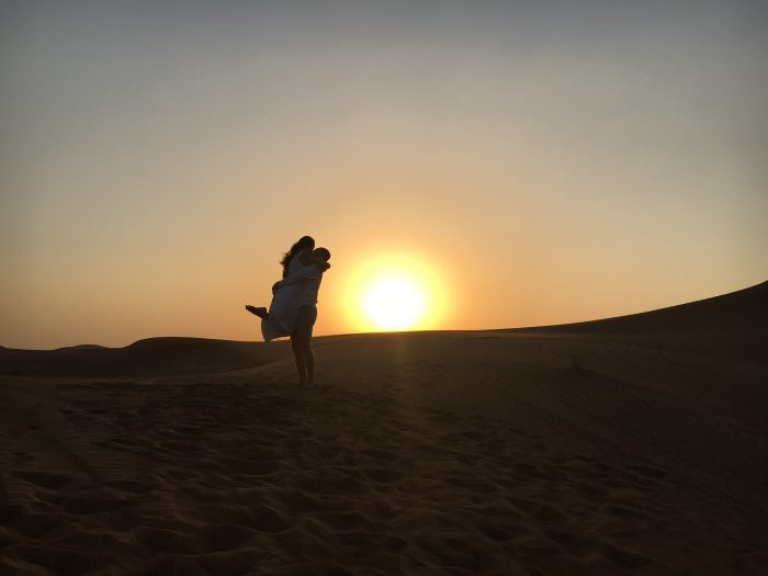 Marriage Proposal Ideas in In the middle of the Arabian Desert