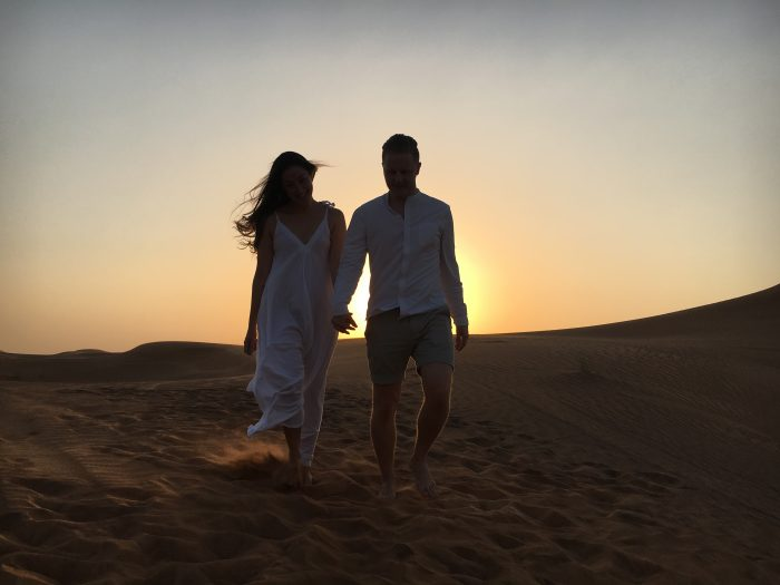 Wedding Proposal Ideas in In the middle of the Arabian Desert