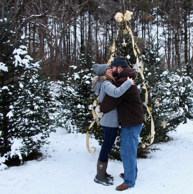 Marriage Proposal Ideas in Krueger's Christmas Tree Farm - Lake Elmo, MN