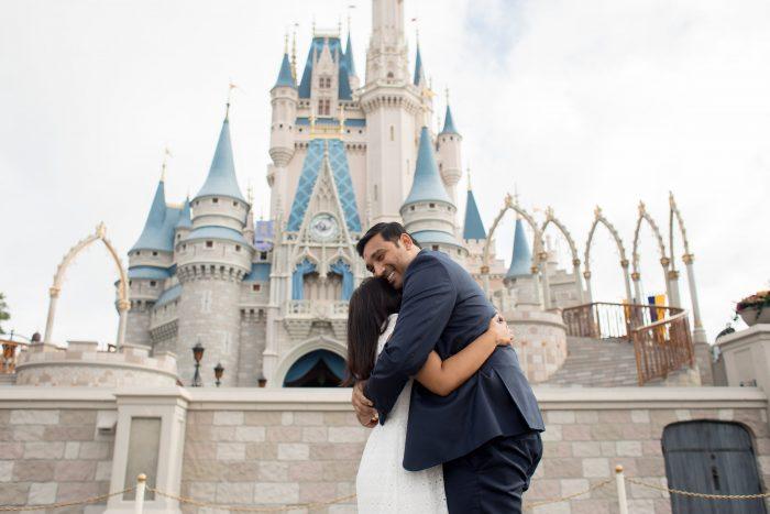 Jaymin and Sarika's Engagement in Disney Magic Kingdom