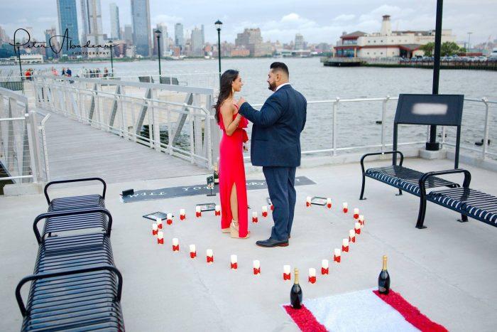 Linda's Proposal in Weehawken Pier