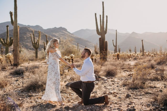 Marriage Proposal Ideas in White Tank Mountains
