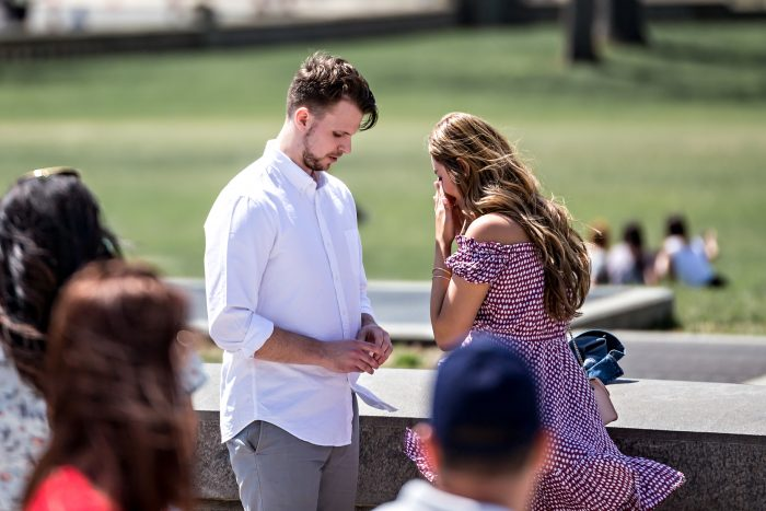 Jessica and Nick's Engagement in State Capitol