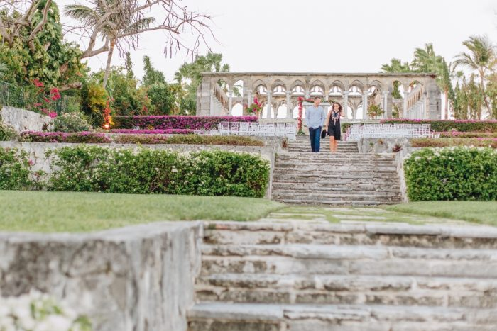 Alyssa's Proposal in Versailles Gardens & French Cloister, Paradise Islands, Bahamas