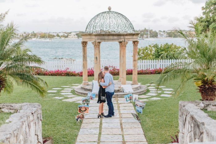 Engagement Proposal Ideas in Versailles Gardens & French Cloister, Paradise Islands, Bahamas