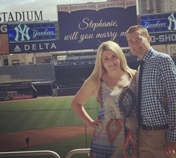 Wedding Proposal Ideas in Private Proposal at Yankee Stadium