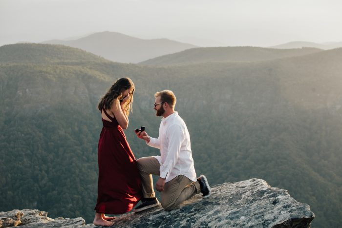 Engagement Proposal Ideas in Hawksbill Mountain - North Carolina
