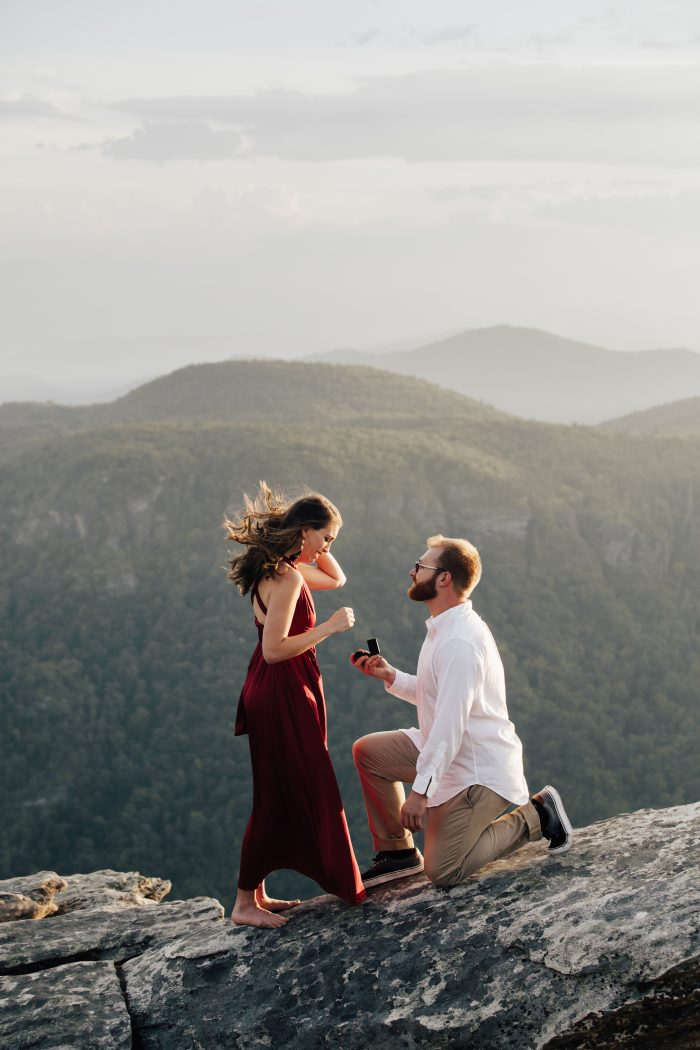 Marriage Proposal Ideas in Hawksbill Mountain - North Carolina