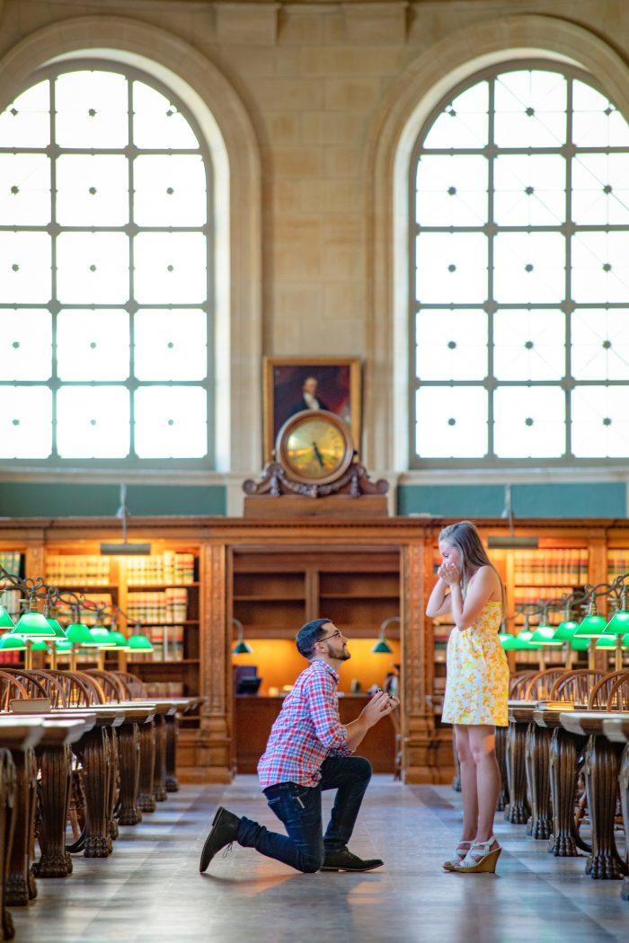 Wedding Proposal Ideas in Boston Public Library