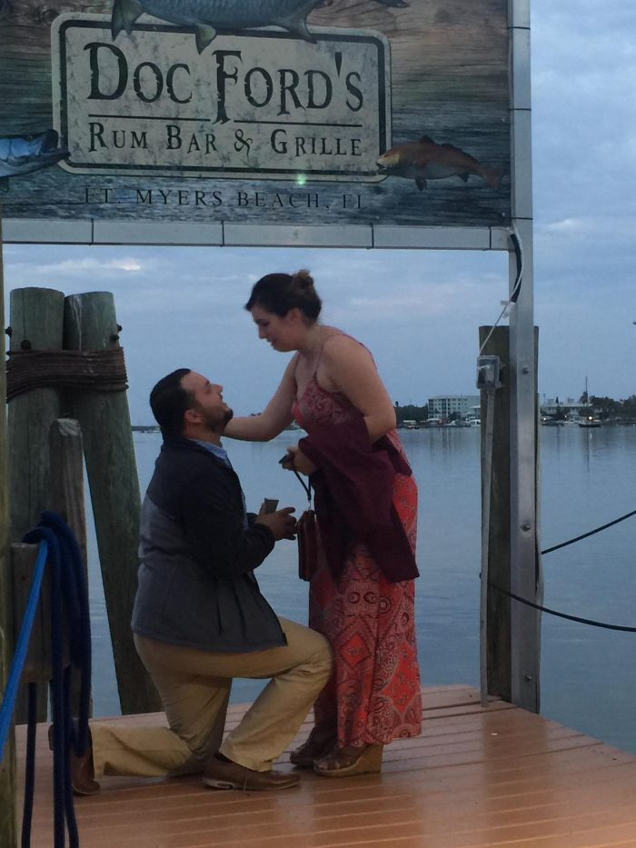 Marriage Proposal Ideas in Doc Fords Bar & Grill at Fort Myers Beach