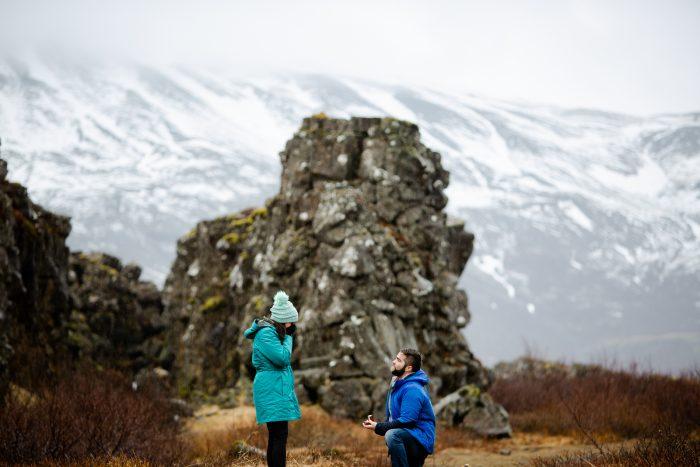 Wedding Proposal Ideas in Thingvellir National Park, Iceland