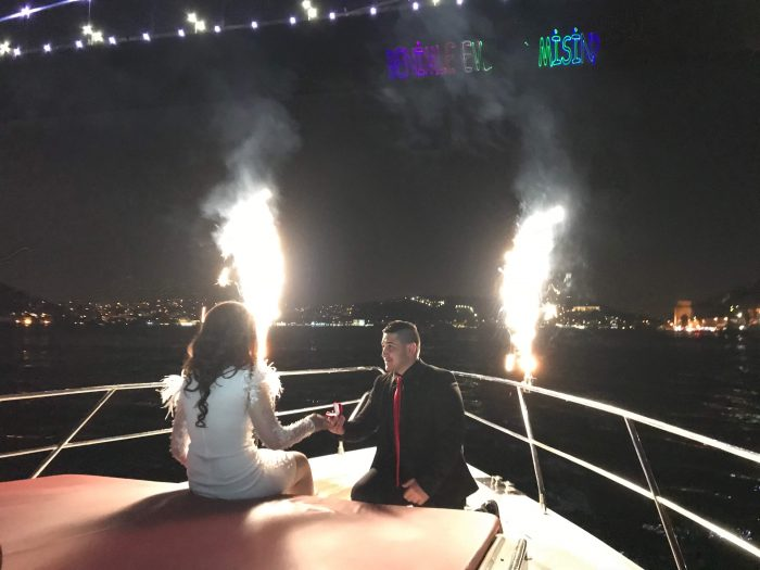 Wedding Proposal Ideas in On a yacht in Istanbul