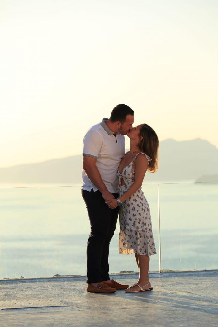 Engagement Proposal Ideas in Santorini , Greece