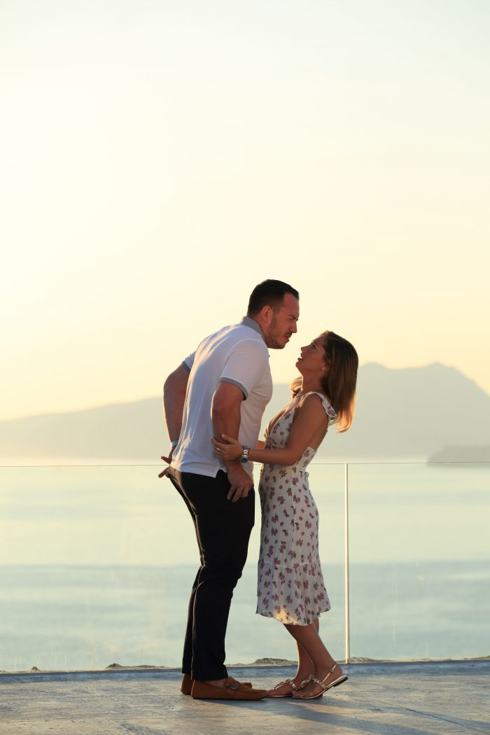 Chetti and Billy's Engagement in Santorini , Greece