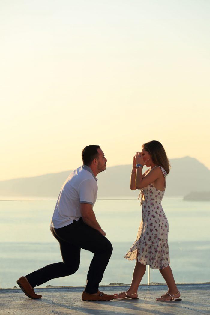 Where to Propose in Santorini , Greece