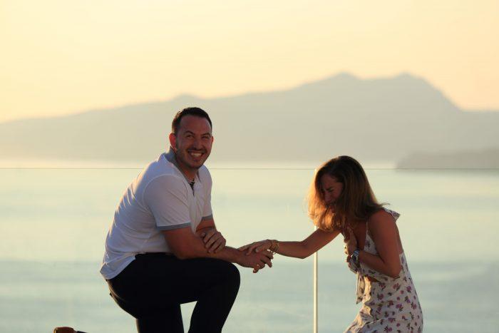 Wedding Proposal Ideas in Santorini , Greece