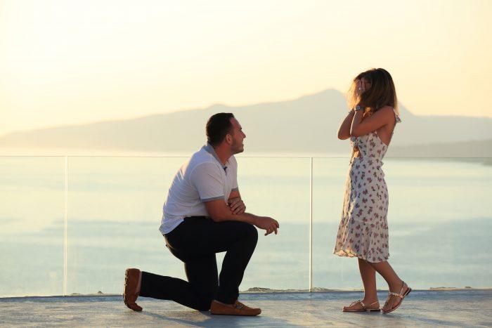 Marriage Proposal Ideas in Santorini , Greece