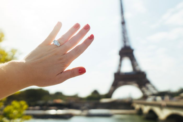Melissa and Aquiles's Engagement in Paris, France