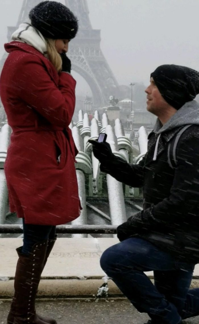 Jazzmin's Proposal in Paris,France