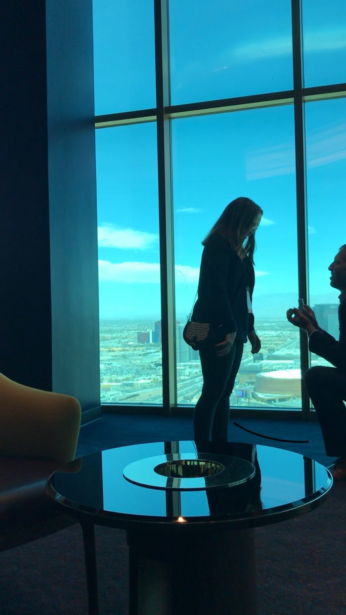 Wedding Proposal Ideas in Skyfall Lounge - Delano Las Vegas