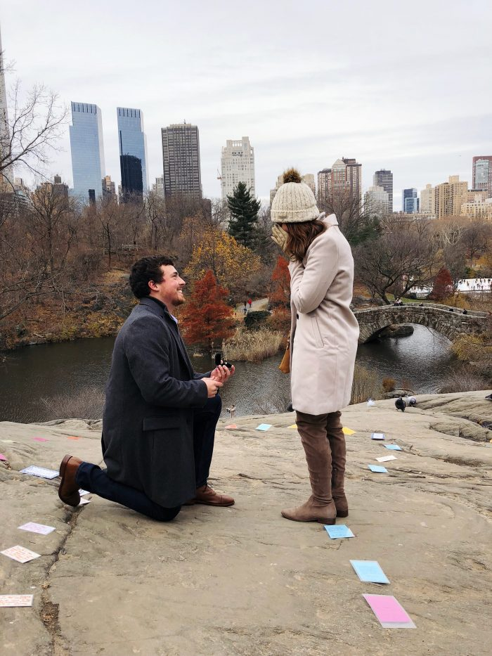 Carra and Michael's Engagement in Central Park - New York City