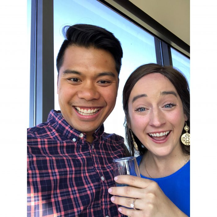 Nikki's Proposal in Seattle, at the top of the Columbia Tower