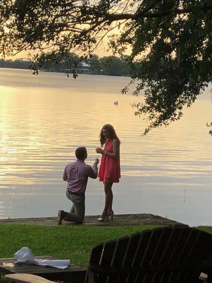 Alanna and Mario's Engagement in Hillstone Restaurant in Orlando, Florida