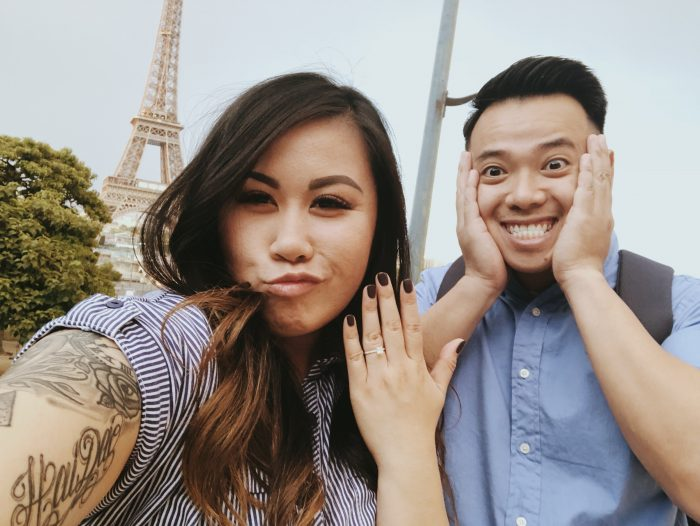 Diane and Cuong's Engagement in Paris