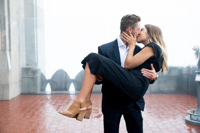 Ashley's Proposal in Rockefeller Center in New York City