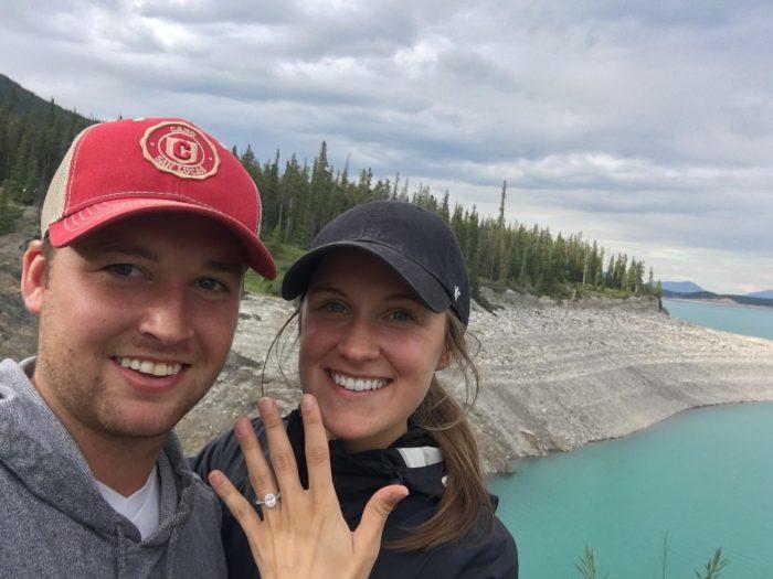Makinna's Proposal in Abraham Lake, Alberta, Canada