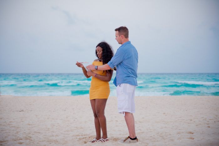 Marriage Proposal Ideas in On The beach in Cancun Mexico