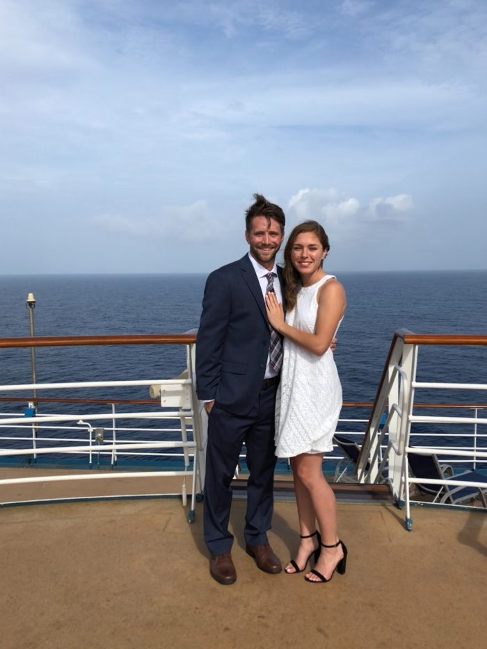Marriage Proposal Ideas in Aboard the Carnival Miracle in the Caribbean