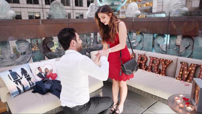 Wedding Proposal Ideas in Knickerbocker Hotel, Times Square, NYC