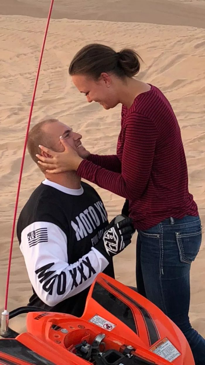 Engagement Proposal Ideas in Glamis San Dunes