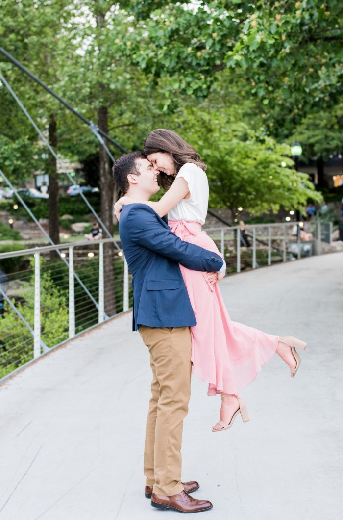 Megan and Luke's Engagement in Greenville, South Carolina