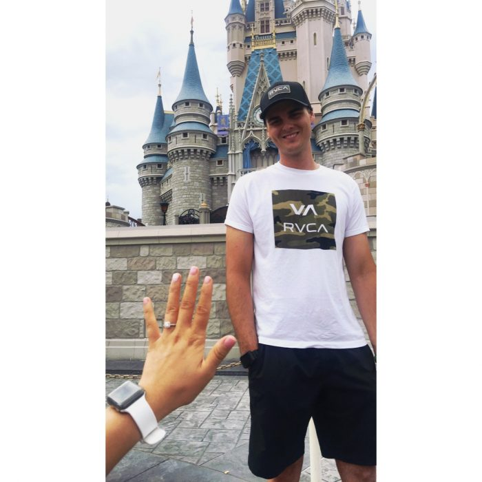 Where to Propose in Walt Disney World at Magic Kingdom in front of the castle