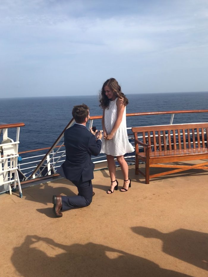 Where to Propose in Aboard the Carnival Miracle in the Caribbean