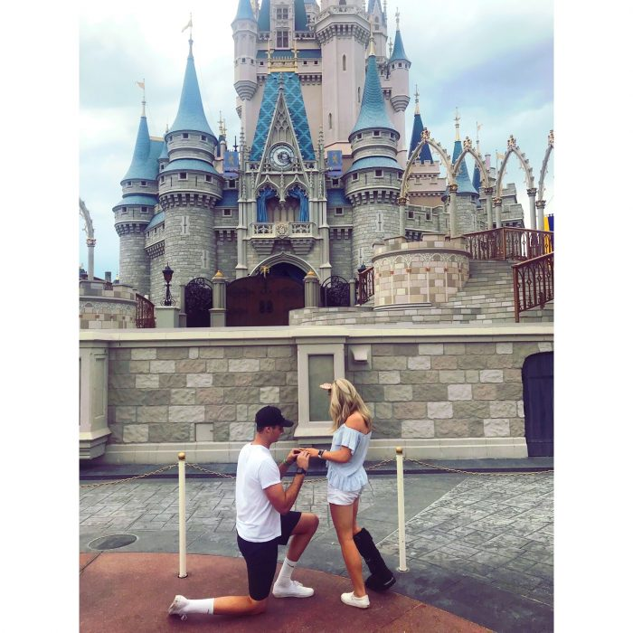 Marriage Proposal Ideas in Walt Disney World at Magic Kingdom in front of the castle