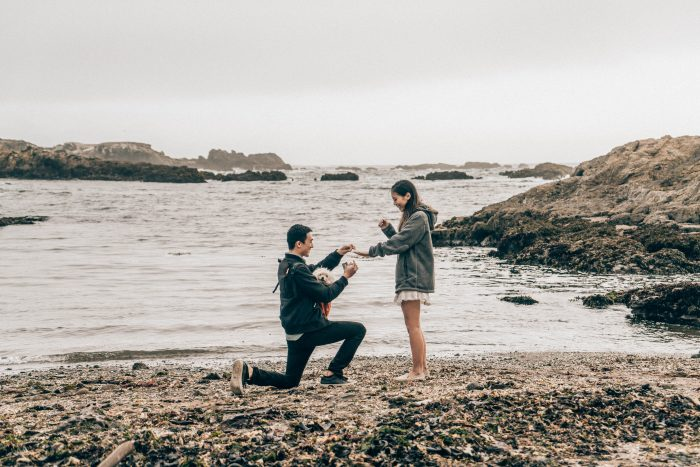 Engagement Proposal Ideas in Glass Beach, CA