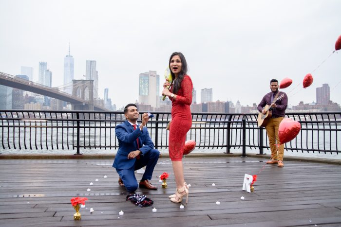 RAJVI and ISHAN's Engagement in BROOKLYN BRIDGE