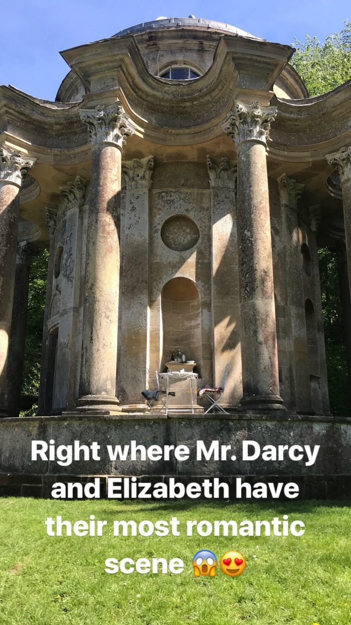 Marriage Proposal Ideas in The Apollo at the Stourhead Gardens in Wiltshire, England