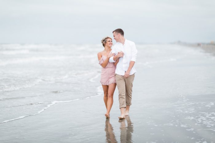 Jerica and Jacob's Engagement in Galveston, TX