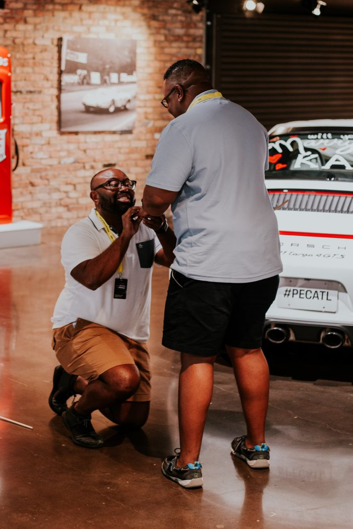 Morgan and Kai's Engagement in Porsche Experience Center