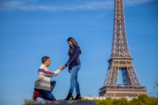 Samantha and Marc's Engagement in Paris
