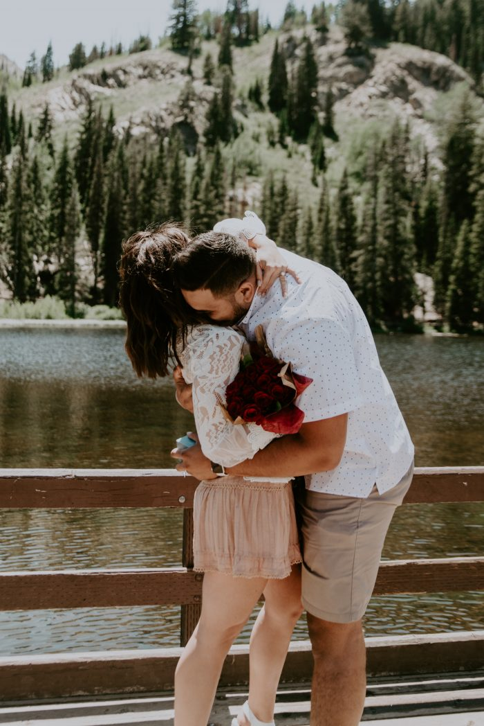 Kate and Branden's Engagement in Big Cottonwood Canyon, Utah